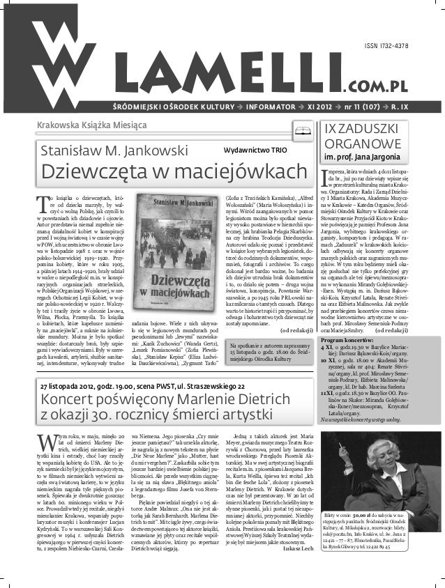 ISSN 1732-4378                                    LAMELLI                                     ŚRÓDMIEJSKI OŚRODEK KULTURY ...
