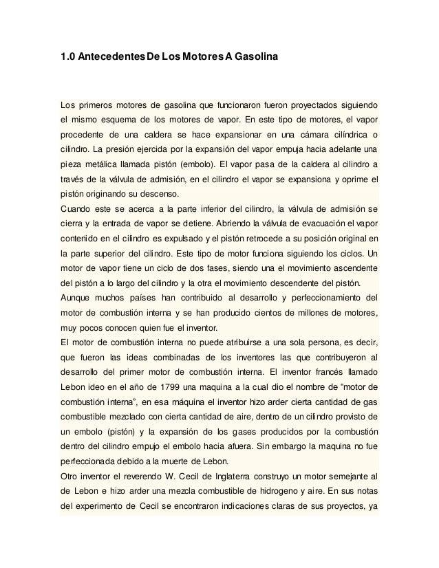 Trabajo de motores a combusti n interna for Trabajo de interna en barcelona