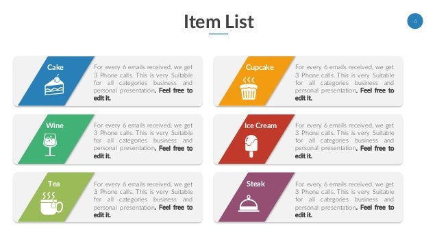 list powerpoint template
