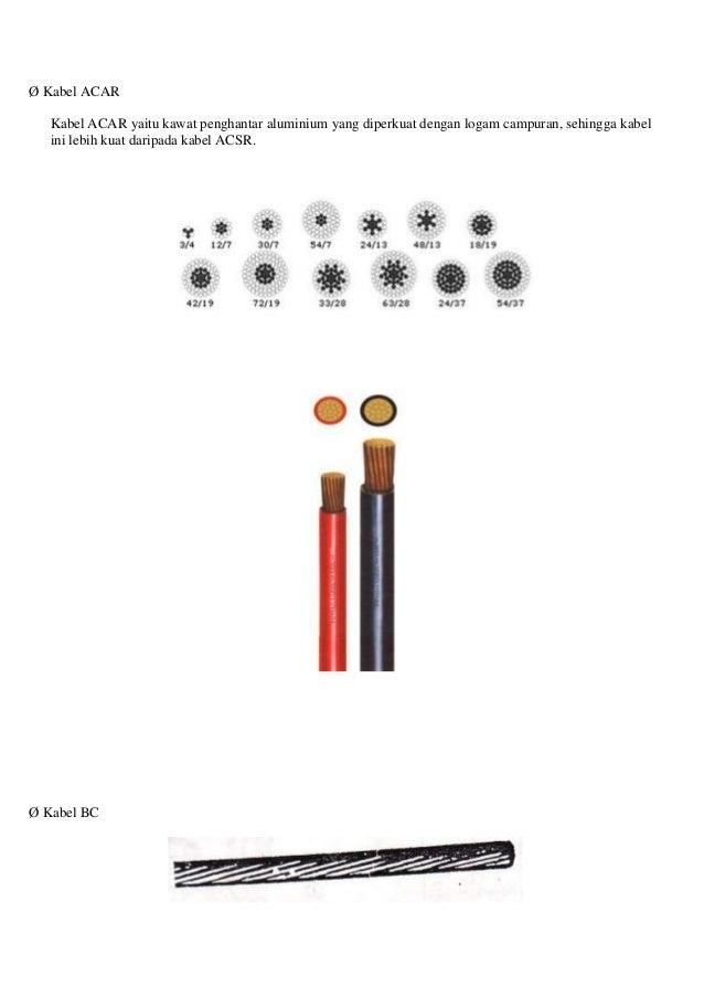 Ø Kabel ACAR Kabel ACAR yaitu kawat penghantar aluminium yang diperkuat dengan logam campuran, sehingga kabel ini lebih ku...