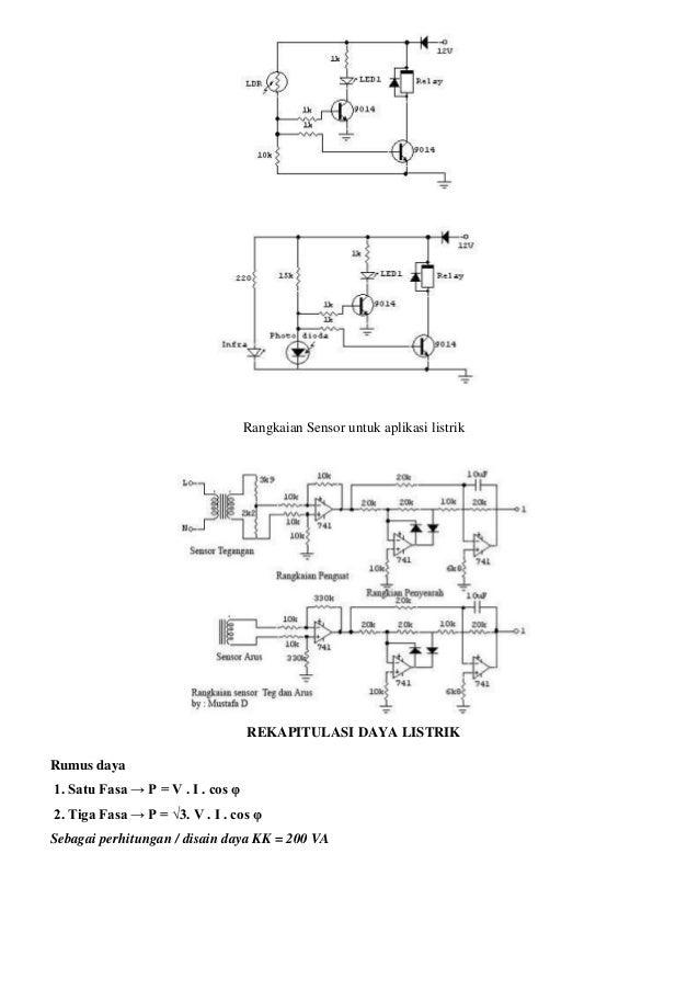Rangkaian Sensor untuk aplikasi listrik REKAPITULASI DAYA LISTRIK Rumus daya 1. Satu Fasa → P = V . I . cos φ 2. Tiga Fasa...