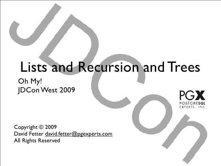 Lists and Recursion and Trees (Oh, my!)