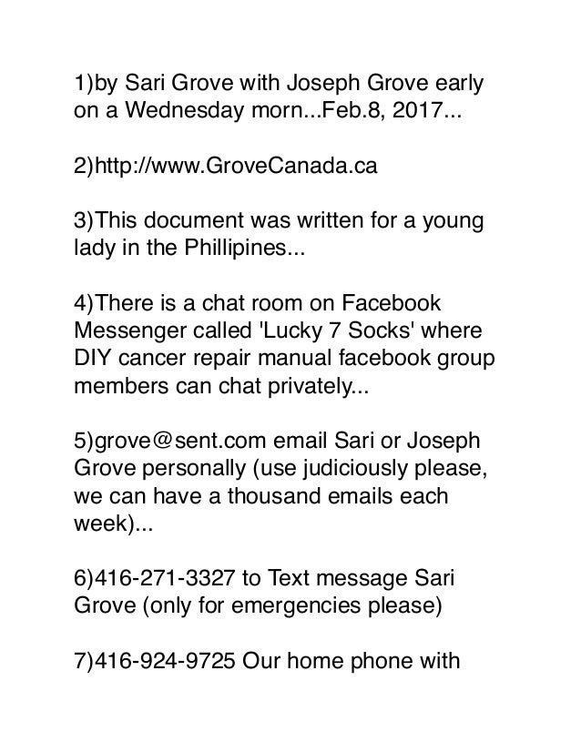 1)by Sari Grove with Joseph Grove early on a Wednesday morn...Feb.8, 2017... 2)http://www.GroveCanada.ca 3)This document w...
