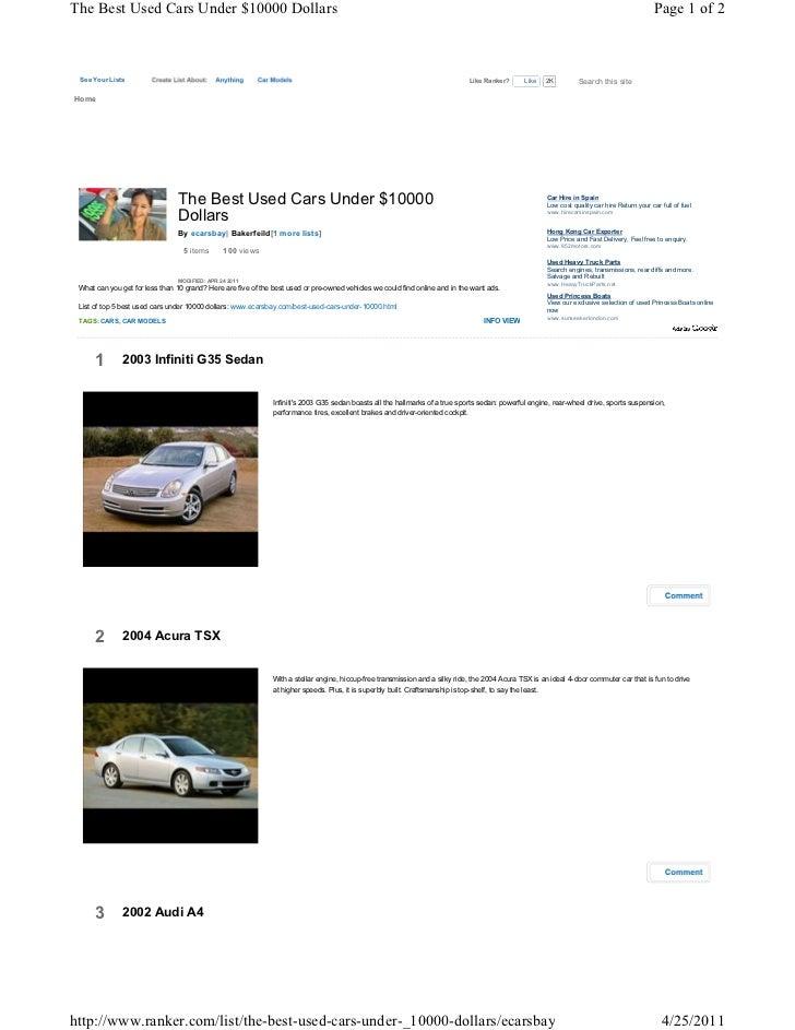the best used cars under 10000 dollars. Black Bedroom Furniture Sets. Home Design Ideas