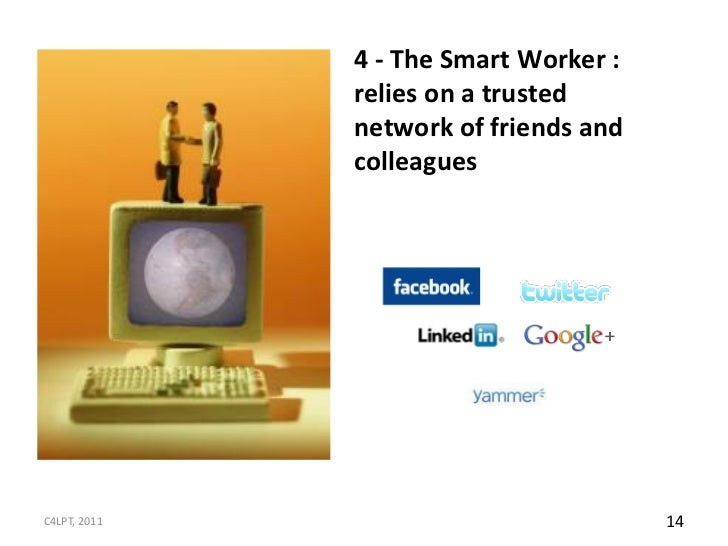 4 - The Smart Worker :              relies on a trusted              network of friends and              colleaguesC4LPT, ...