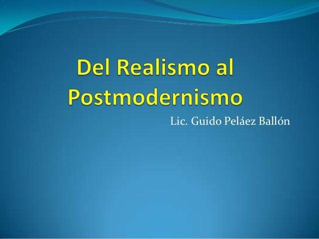 Lic. Guido Peláez Ballón