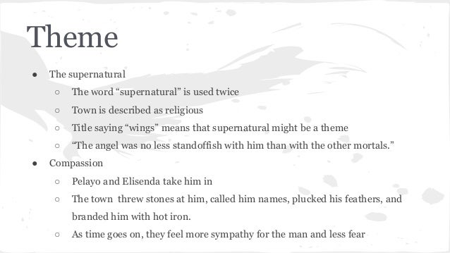 a very old man with wings summary