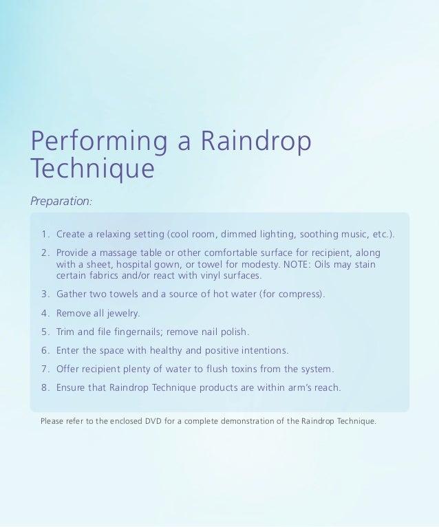 massage other raindrop technique
