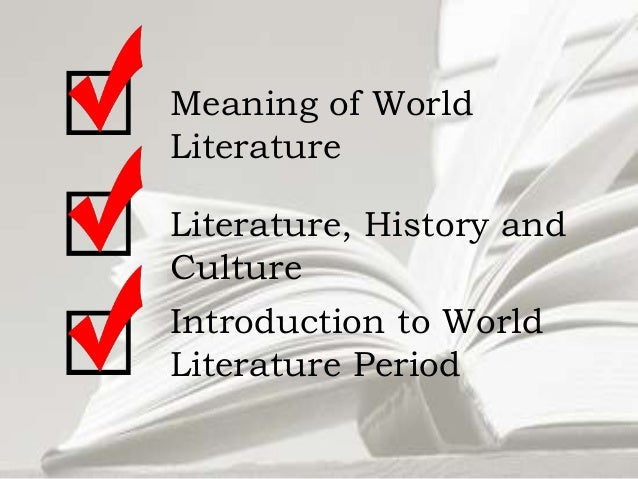 an overview of the major periods of english and world literatures A brief overview of british literary periods share flipboard email  this period is in strong contention with the romantic period for being the most popular, influential, and prolific.