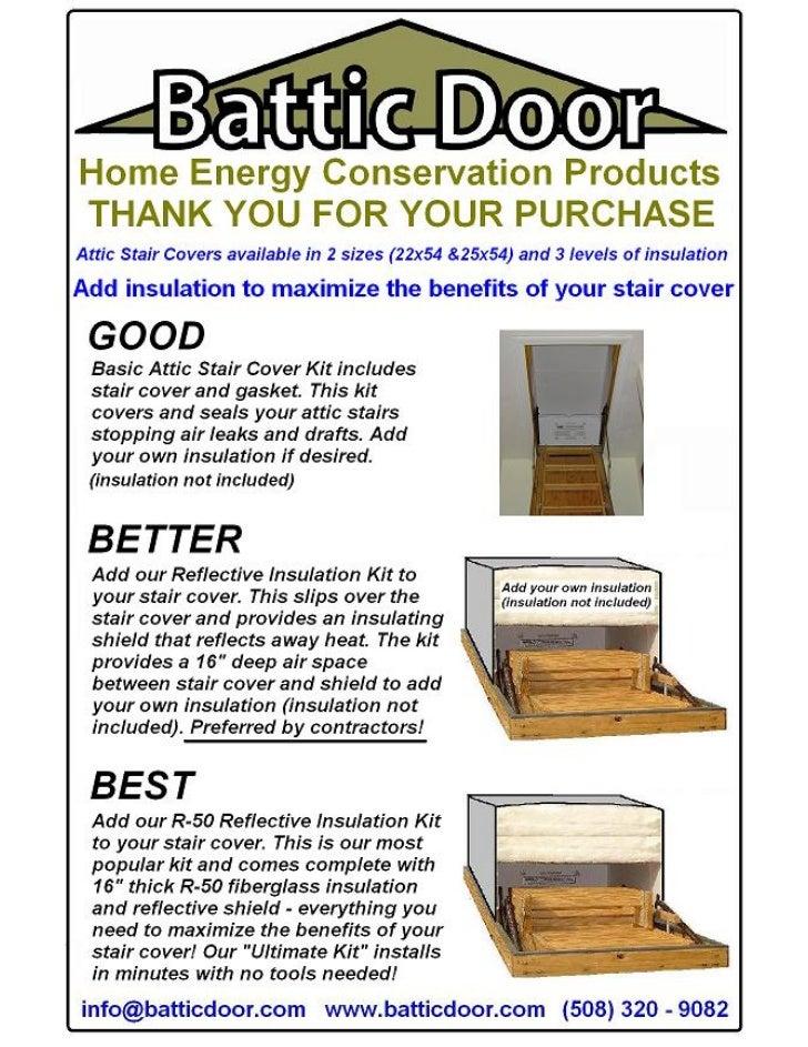 sc 1 st  SlideShare & R-50 Battic Door Attic Stair Cover Kit - 1