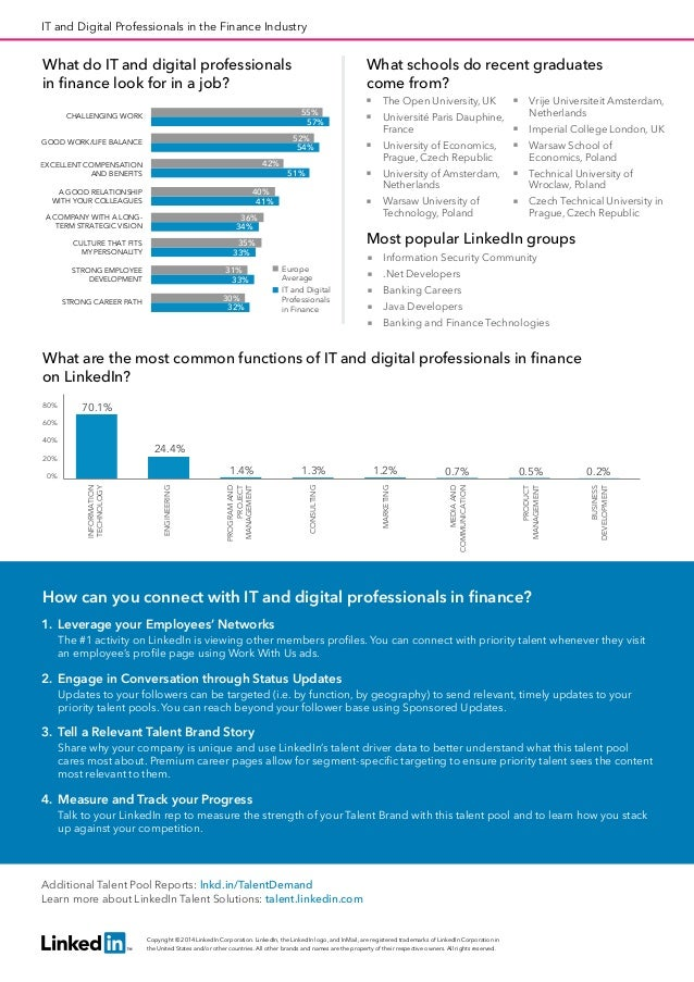 Europe IT and Digital Professionals in the Finance Industry   Talent Pool Report 2014 Slide 2