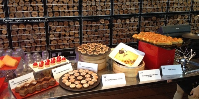 Dessert display for a private function