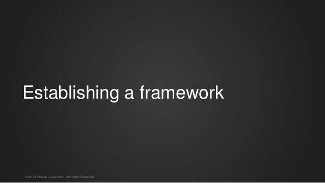 Establishing a framework