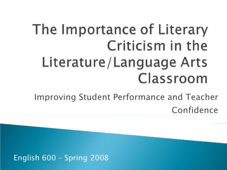 Improving Student Performance and Teacher Confidence English 600 – Spring 2008