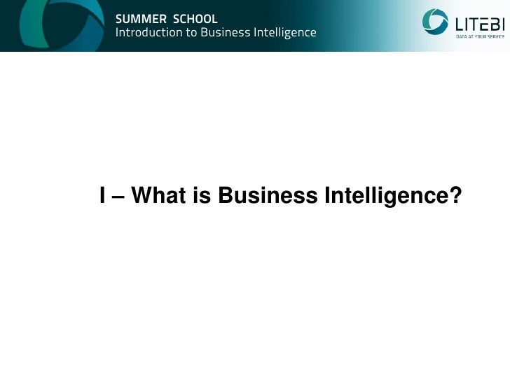 introduction of business intelligence bi The bread and butter of bi is static reporting, where software gathers data from across the enterprise and presents it to end users, often with fancy charts and analysis tools to help users identify trends and make predictions.