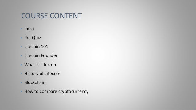 Litecoin Crypto Currency Bootcamp