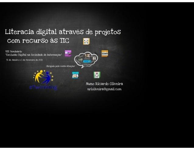 Literacia digital através de projetos com recurso às tic