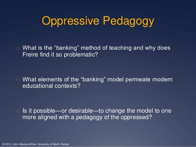 Education and liberation of the oppressed