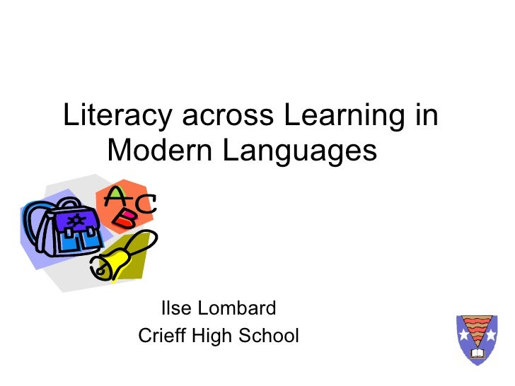 Literacy across learning in modern languages