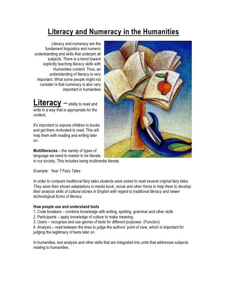 Literacy and Numeracy in the Humanities          Literacy and numeracy are the      fundament linguistics and numericunder...