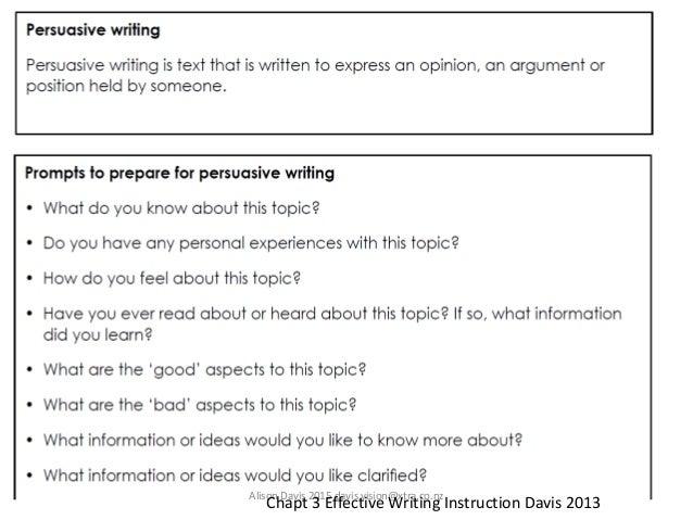 effective writing instruction alison davis