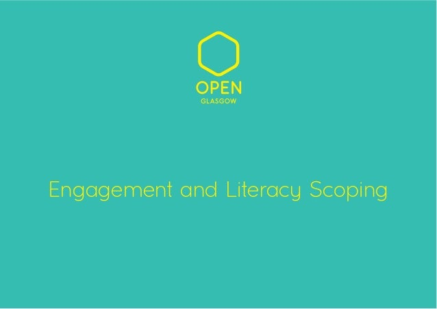 Engagement and Literacy Scoping