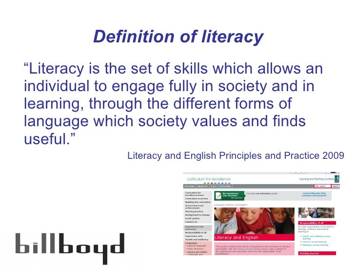 literacy is excellent Based in washington, dc, the alliance for excellent education is a national   curriculum, content area literacy instruction must be a cornerstone of any.