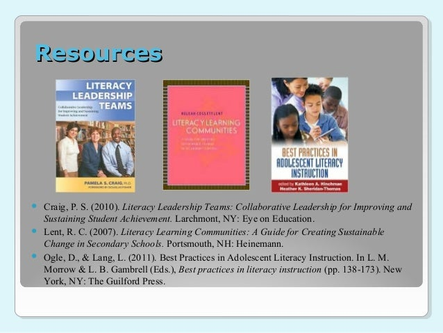 Literacy Leadership Teams: Collaborative Leadership for Improving and Sustaining Student Achievement