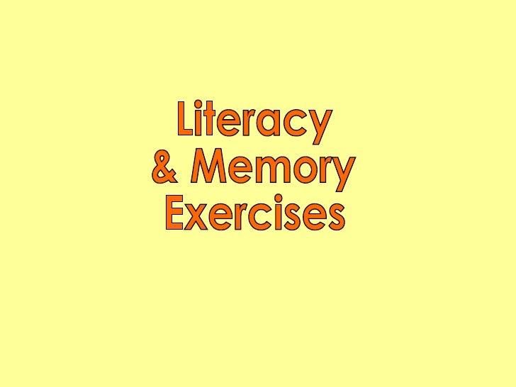Literacy & Memory Exercises