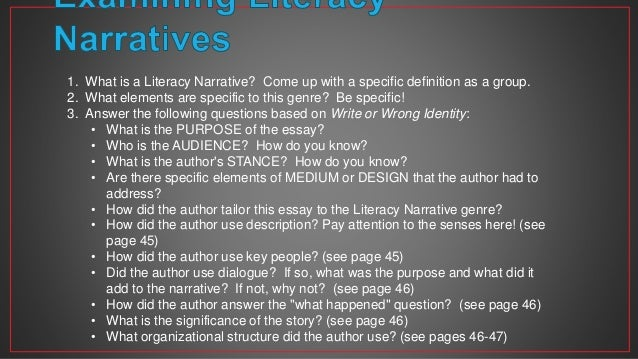 literacy narrative paper overview