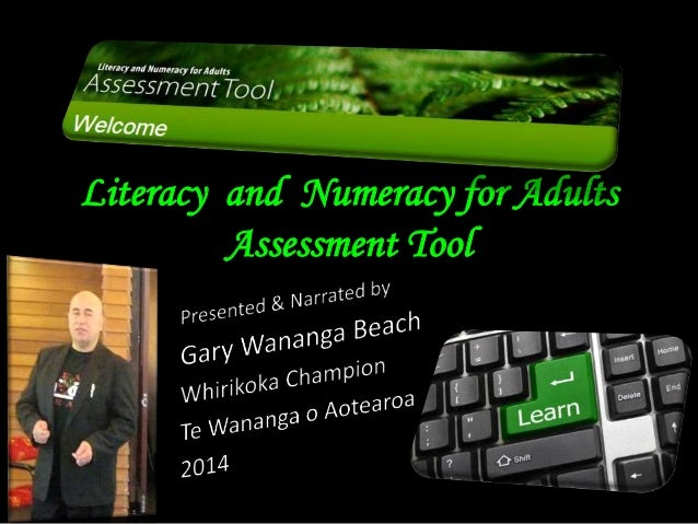 Literacy and Numeracy for Adults Assessment Tool