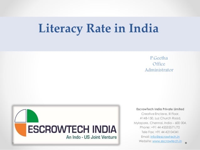 Literacy Rate In India