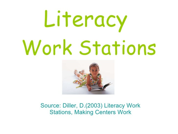 Literacy  Work Stations Source: Diller, D.(2003) Literacy Work Stations, Making Centers Work