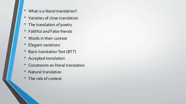 literal translation