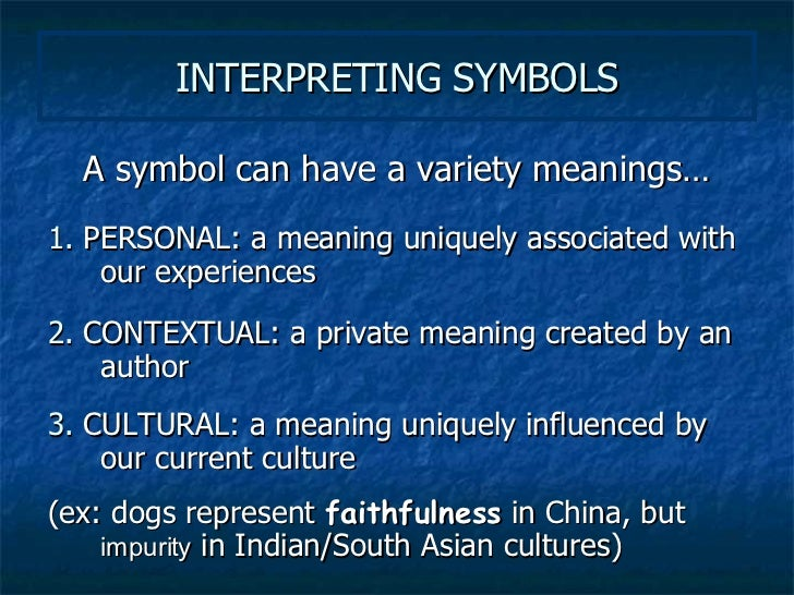 what does symbol mean in literary terms