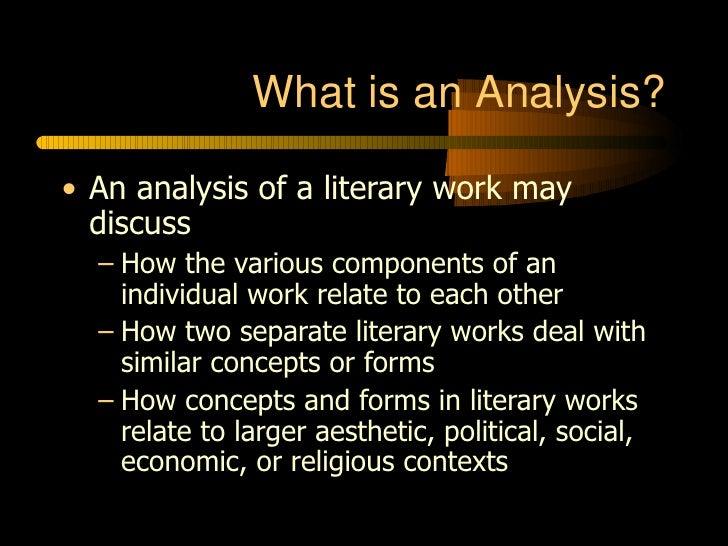 Wonderful Literary Analysis Photo Gallery