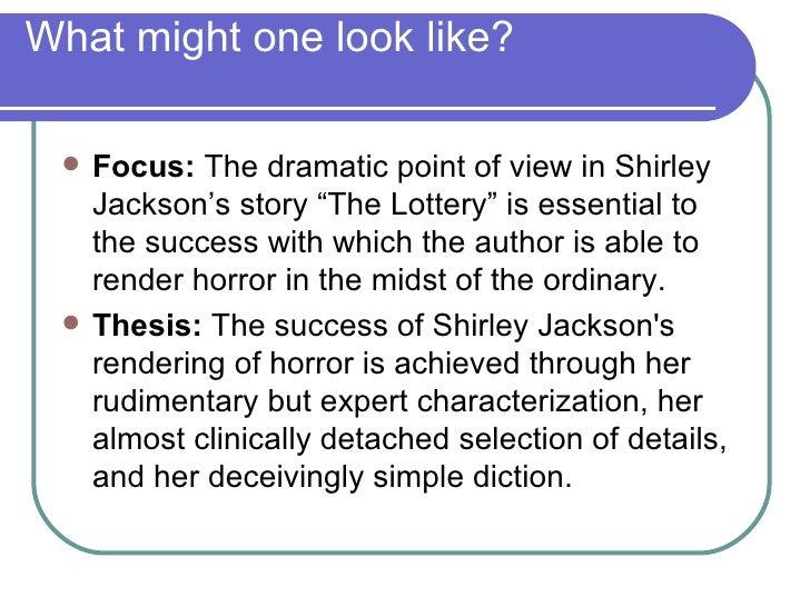 The lottery literary analysis essay
