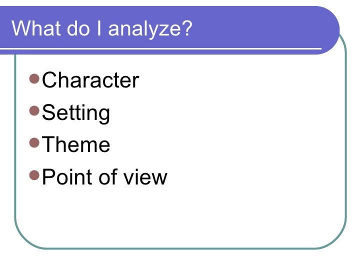 Setting analysis essay