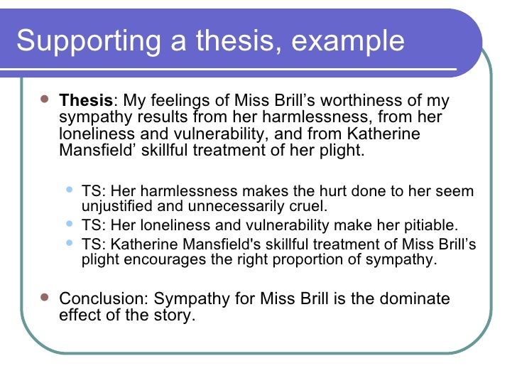 miss brill conclusion Miss brill (katherine mansfield 1922) - free download as pdf file (pdf), text file (txt) or read online for free criticsim.
