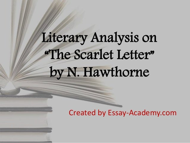 Literary analysis of the scarlet letter