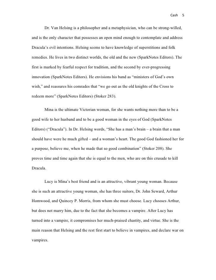 dracula essay outline