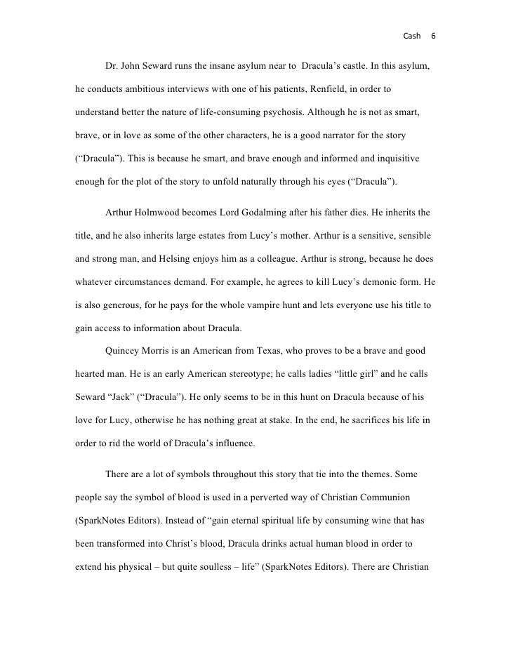 Literary analysis on dracula – Literary Essay