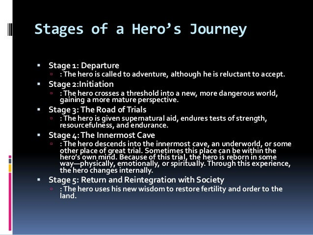 the initiation stage of a heros journey The experience of the preceding stages have led us  this stage marks the decision to return to the ordinary world the hero's journey is infinitely.