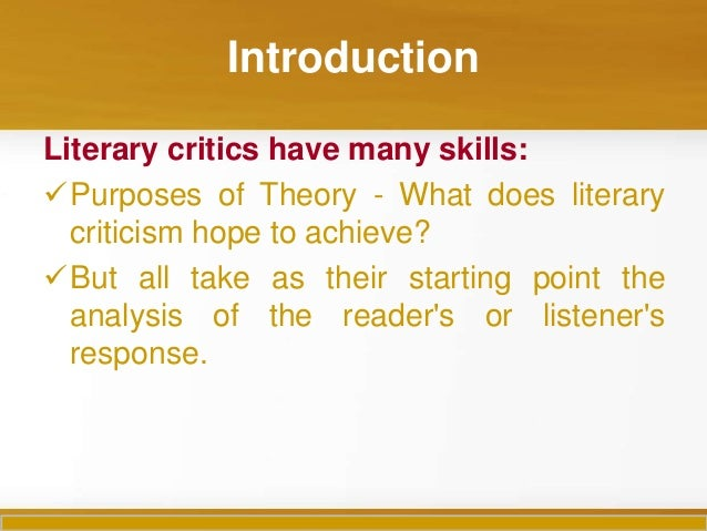 the reader response approach to literature considers