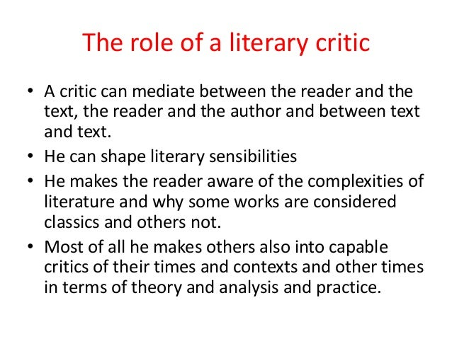 role of literary critic