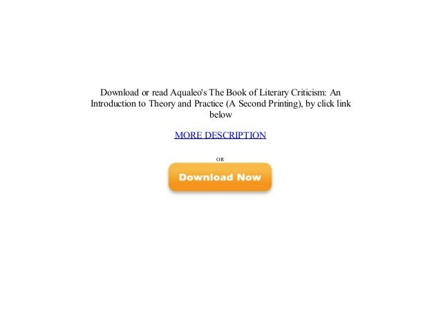 Introduction an practice theory literary and pdf to criticism