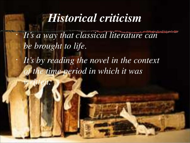 historical approach to literature