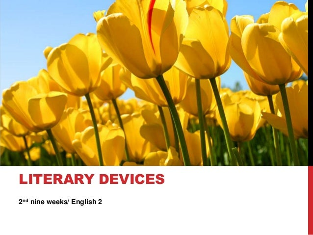 LITERARY DEVICES2nd nine weeks/ English 2
