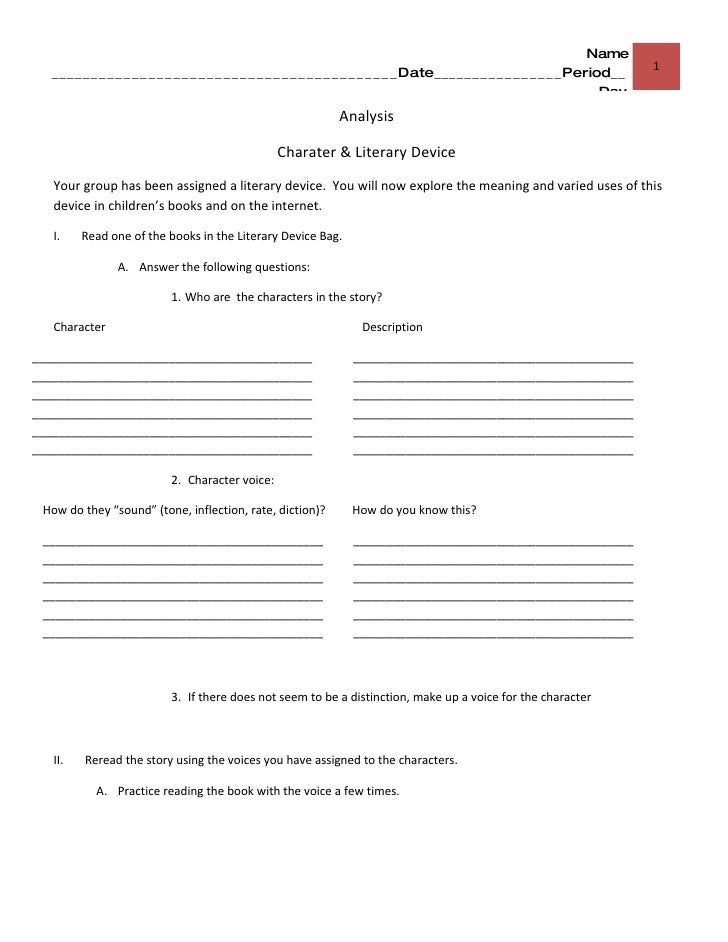 Poetic Devices Worksheet 4 Worksheet Printable