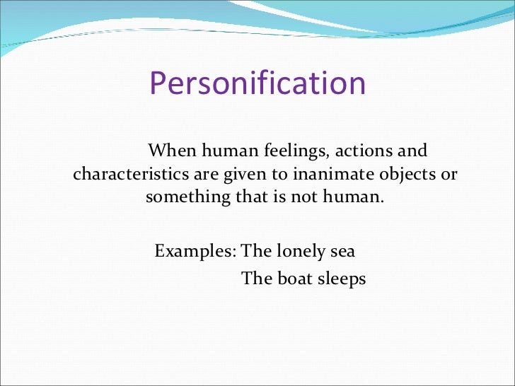 what does personification mean in literary terms